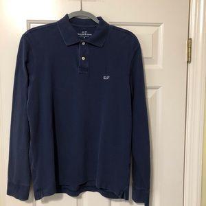 Vineyard Vines designer long sleeve navy shirt S